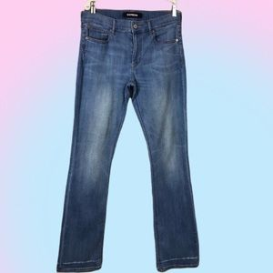 Express MidRise Barely Boot Cut Jeans Long
